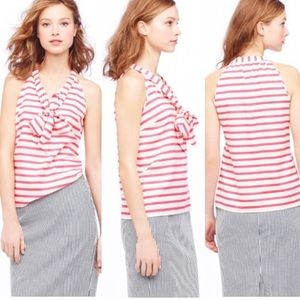 J Crew Cami Stripe silk halter